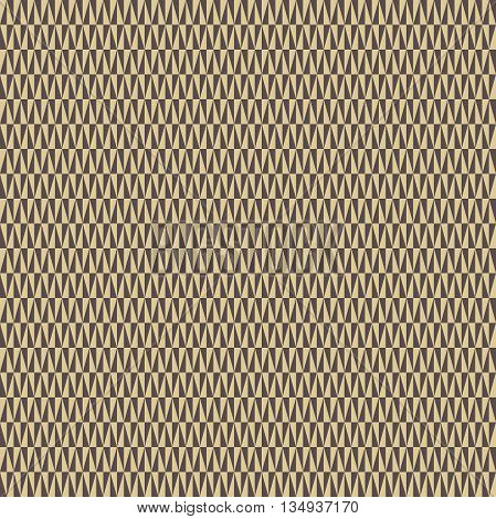 Geometric vector pattern with brown and golden triangles. Seamless abstract background