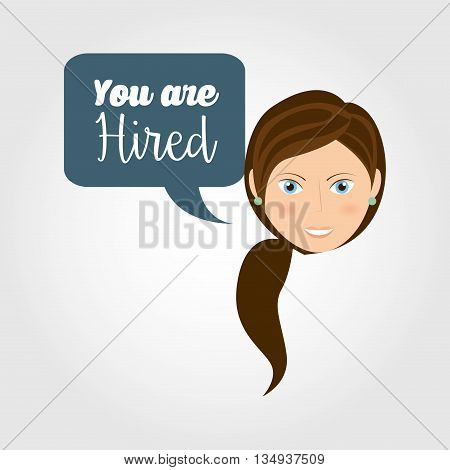 you are hired design, vector illustration eps10 graphic