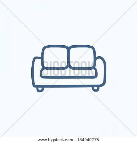 Sofa vector sketch icon isolated on background. Hand drawn Sofa icon. Sofa sketch icon for infographic, website or app.