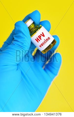 Human Papillomavirus (HPV) vaccine for injection, white background