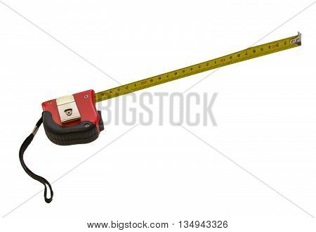 Isolated picture of measuring line that workers use during construction