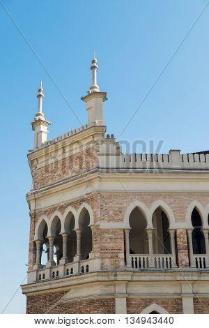 Corner view of Sultan Abdul Samad building near Merdeka Square in Kuala Lumpur Malaysia