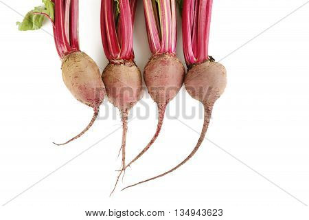 Fresh Beets Isolated On A White Background