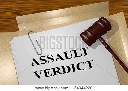 Assault Verdict Legal Concept