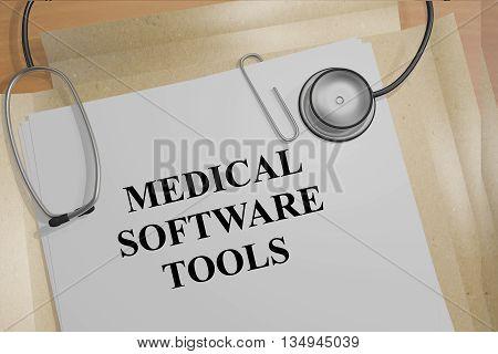 Medical Software Tools Medical Research Concept