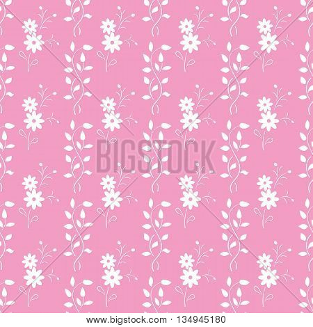 Cute Vintage Floral Seamless Pattern. Background, Cover, Wrapper, Textile.