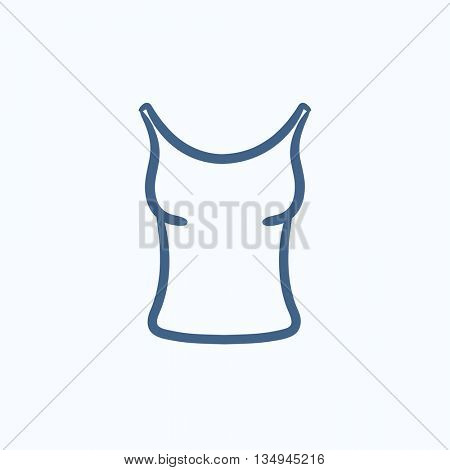 Singlet vector sketch icon isolated on background. Hand drawn Singlet icon. Singlet sketch icon for infographic, website or app.