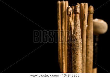 Drum Sticks For Drums, Black Background