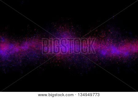 Magenta Abstract Powder Explosion On A Black Background
