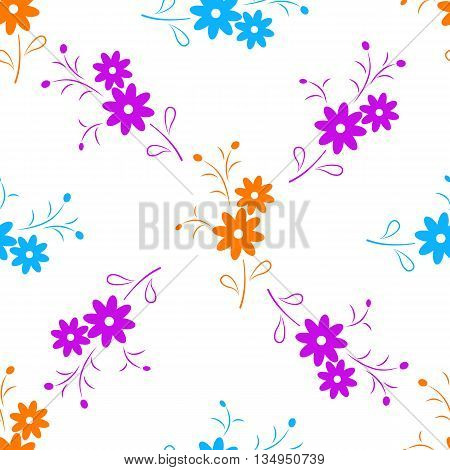 Cute   Floral Seamless Pattern. Background, Cover, Wrapper, Textile.