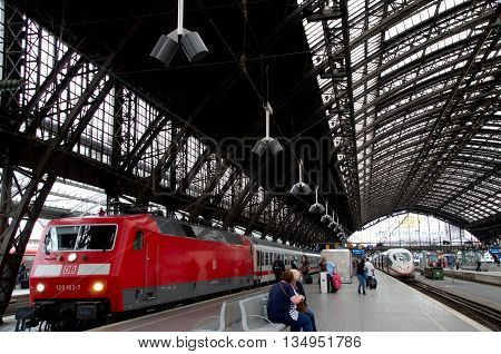 Cologne, Germany - June 12 2016 : View of Cologne Hauptbahnhof on 12th June 2016.