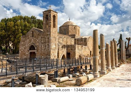Panagia Chrysopolitissa Basilica in Paphos, Cyprus island