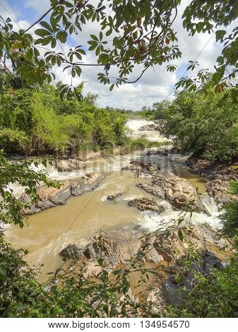 the Khone Phapheng Falls in southern Laos