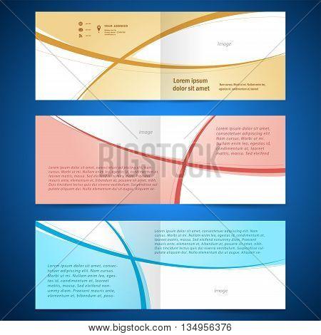 brochure design template booklet album curve line