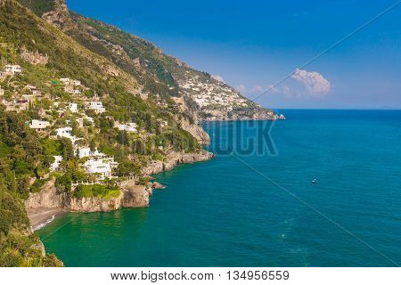 Beautiful Views From Path Of The Gods, Amalfi Coast, Campagnia Region, Italy