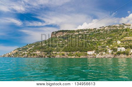 Amazing Generic View On Amalfi Coast From Town Of Maiori, Campania Region, Italy