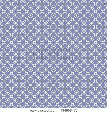 Geometric seamless patterns. Thin line monochrome tiling textures set. Vector illustration.
