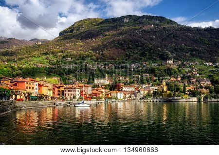 Gravedona (Lago di Como) at golden light