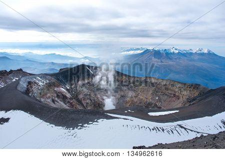 Misti volcano also known as Putina or El Misti near Arequipa city Peru