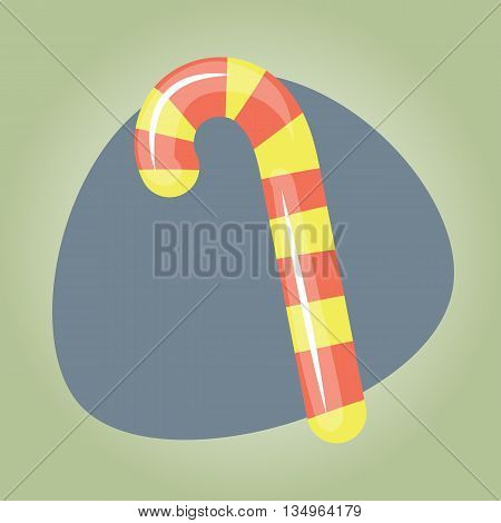 Candy cane icon Candy cane icon eps 10 Candy cane icon vector Candy cane icon jpg. Vector illustration