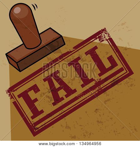 Abstract Stamp with text Fail, vector illustration