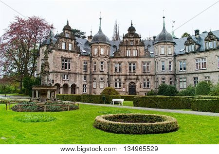 View on the castle Buckeburg from a garden inLower Saxony. Germany