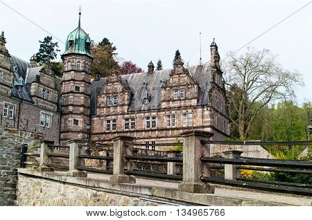 Side view on the castle Emmerthal. Lower Saxony. Germany