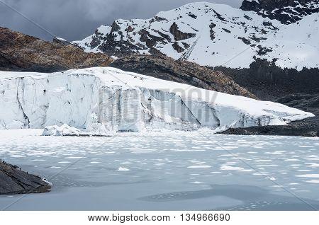 Pastoruri Glacier In Cordillera Blanca, Northern Peru