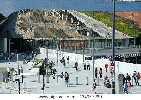 BIRMINGHAM, UNITED KINGDOM - JUNE 6, 2016 - Entrance to New Street railway station Birmingham England UK Western Europe, June 6, 2016.
