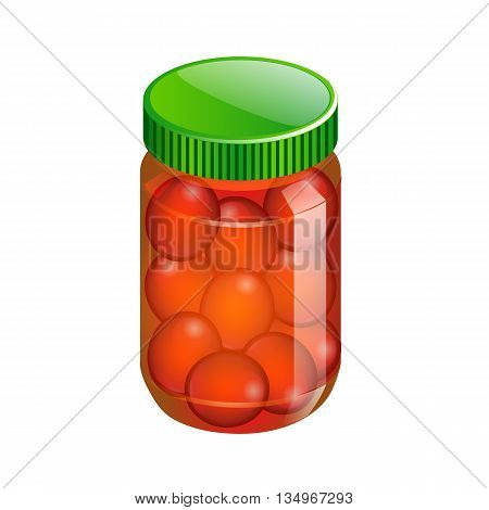 Glass Jar With With Canned Food. Vector Illustration. Packaging Collection.