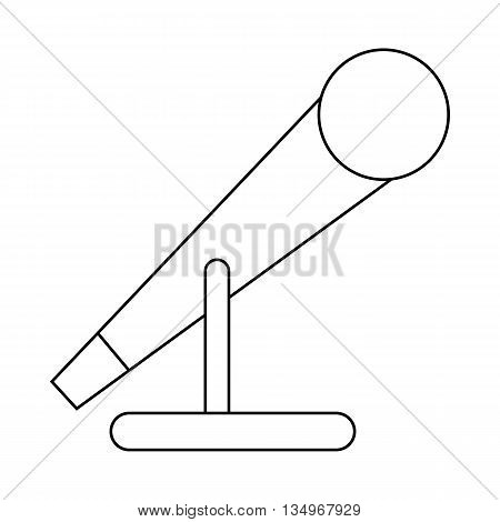 Microphone icon in outline style on a white background