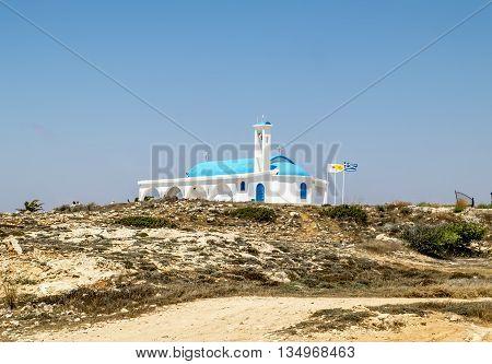 25 may 2016.In Ayia NAPA.The Church of Saint Thecla on the Mediterranean sea in Ayia NAPA. Cyprus.