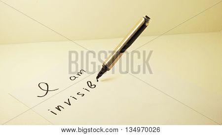 Black marker writing:
