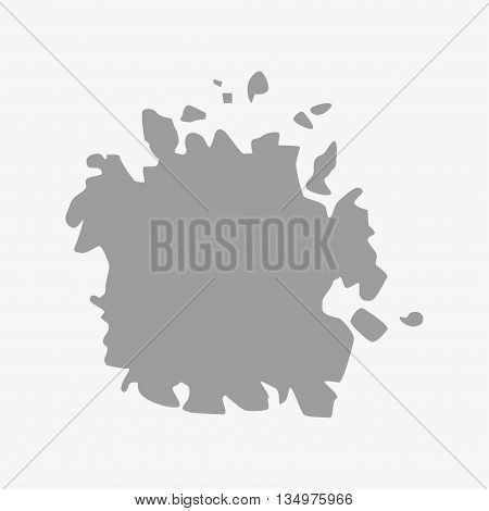 Micronesia map in gray on a white background