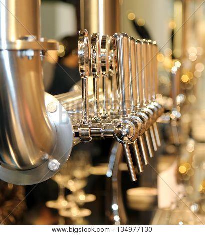 Draught Beer Fonts At The European Bar