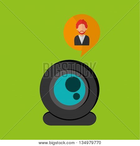 Man concept with icon design, vector illustration 10 eps graphic.