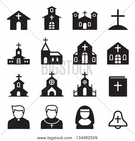 church icon silhouette Vector illustration Graphic design