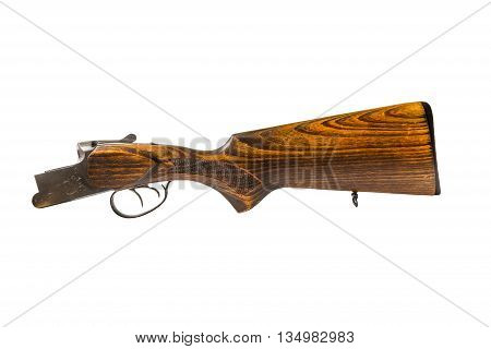 hunting shotgun part isolated on white background