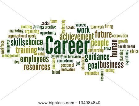 Career, Word Cloud Concept