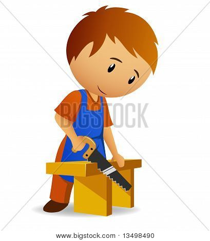 Cartoon carpenter
