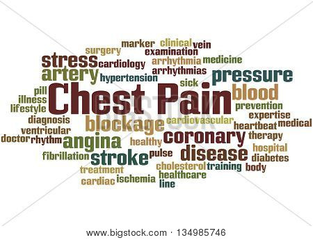 Chest Pain, Word Cloud Concept 8