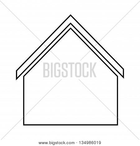 Family home represented by traditional house design, isolated and flat illustration