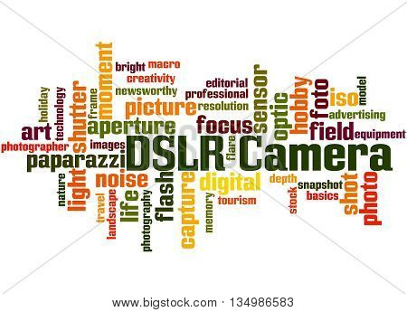 Dslr Camera, Word Cloud Concept 8