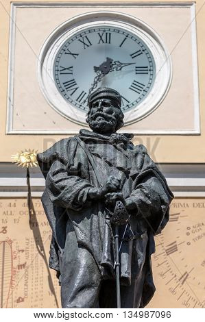 Monument To Giuseppe Garibaldi In Parma, Italy