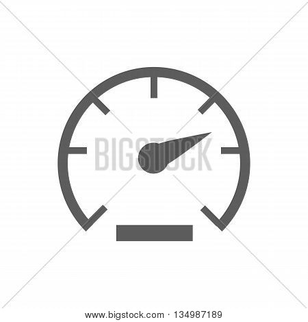 Speed icon vector on a white background. Vector illustration