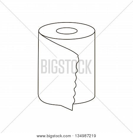 Toilet paper path on a white background. Vector illustration