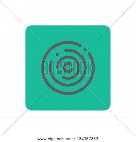 Touch icon on a green background. Vector illustration