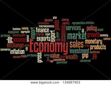 Economy, Word Cloud Concept 6