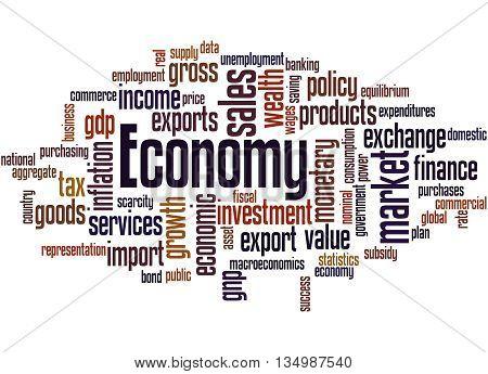 Economy, Word Cloud Concept 8