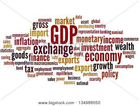 Gdp - Gross Domestic Product, Word Cloud Concept 9